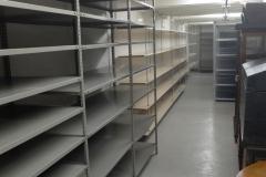 Blick in das leerstehende Depot