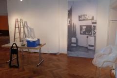 """Letzte Reste der Ausstellungseinbauten """"Der Berliner Skulpturenfund"""""""