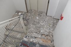 Das Treppenhaus des Museums nach dem die Umbauarbeiten begonnen haben